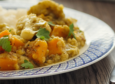 Curried Lentils and Squash