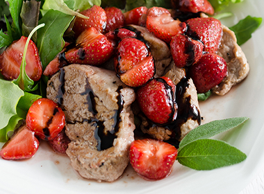 Seared Pork Tenderloin and Strawberry Salad