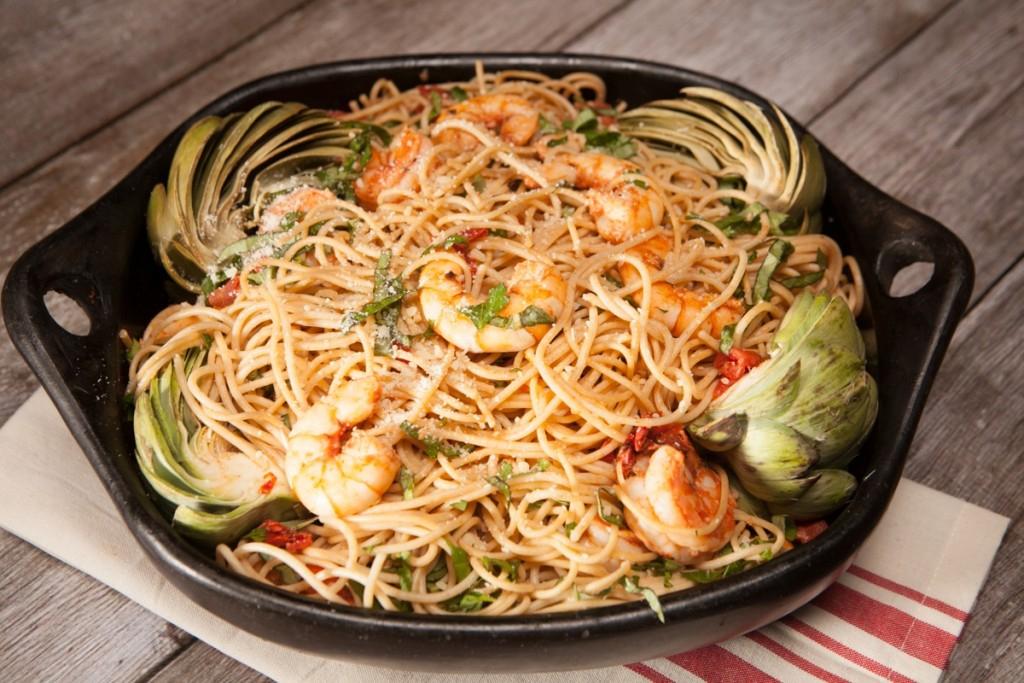 Shrimp Artichoke Pasta