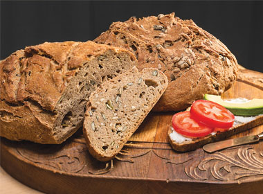 No-Knead Seedy Bread