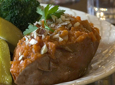 Pear Stuffed Sweet Potatoes
