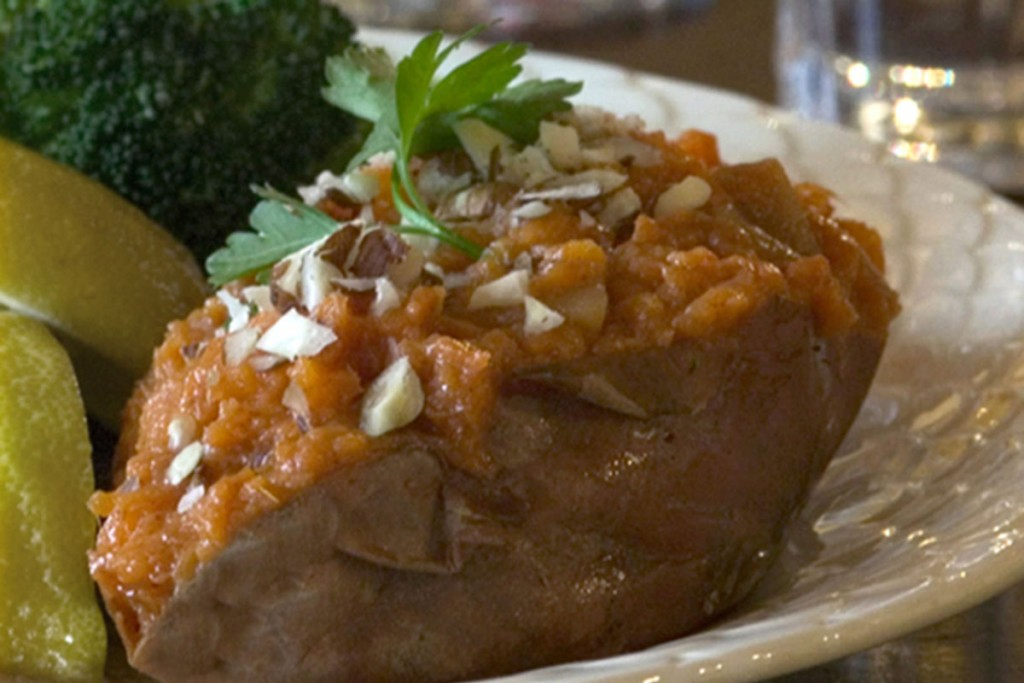 Pear Stuffed Sweet Potatoes