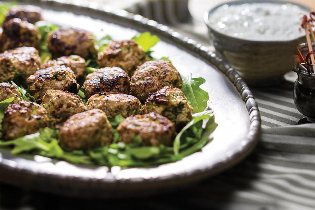 Provencal Turkey Meatballs with Tzatziki Sauce
