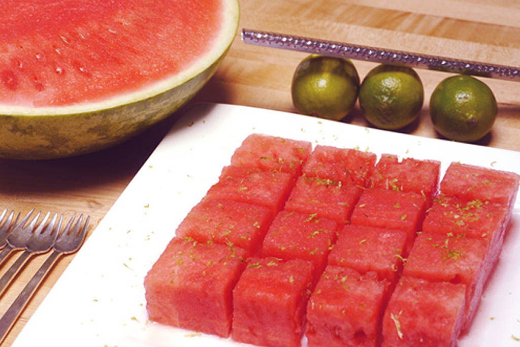 Watermelon Lime Squares