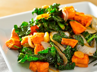 Wilted Kale & Sweet Potato Salad
