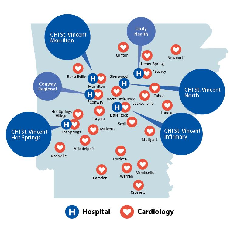 CHI St Vincent Heart Institute Locations