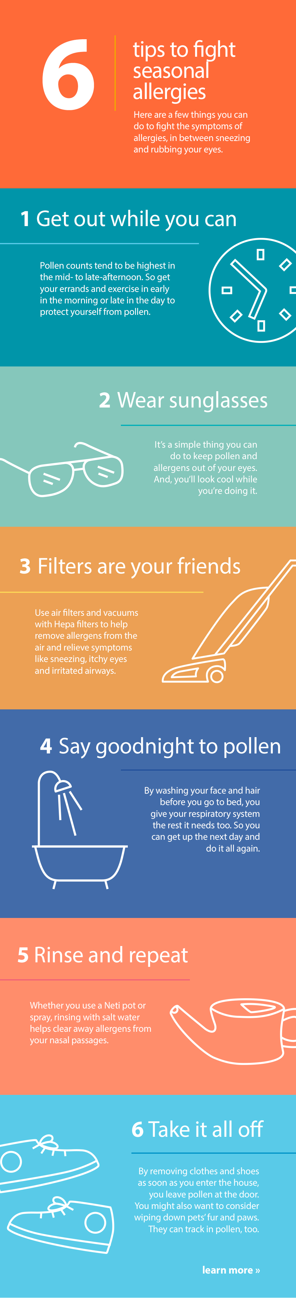 6 tips to fight seasonal allergies - Infographic