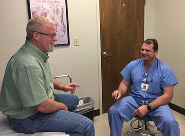 Dr. Justin Seale Helps Robert Stroope Say So Long to Back Pain